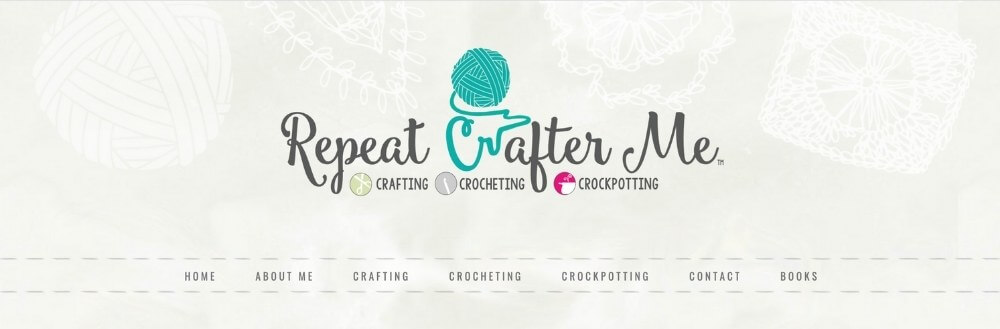 screenshot of repeat crafter me blog name ideas example