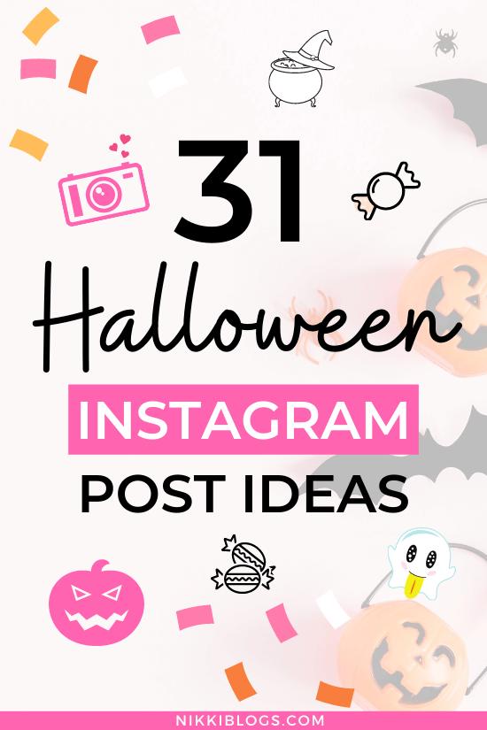 text reads 31 halloween social media ideas