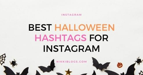 text reads best halloween hashtags for instagram