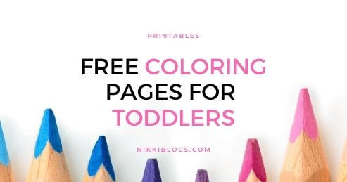 text reads free coloring pages for toddlers