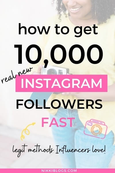 text reads how to get 10000 instagram followers fast - gain ig followers like an influencer