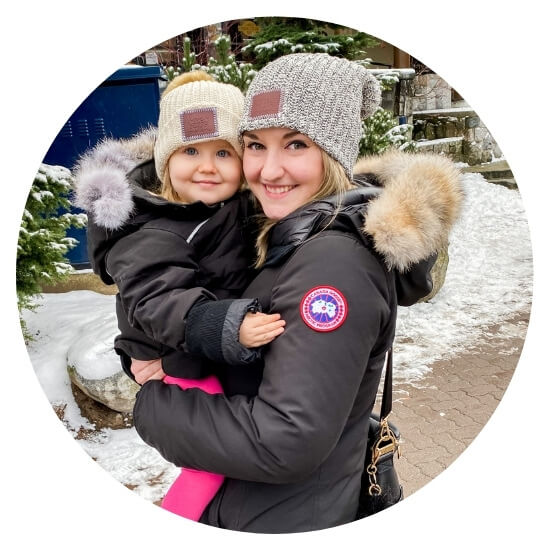 photo of vancouver mom blogger nikki slivarich and daughter