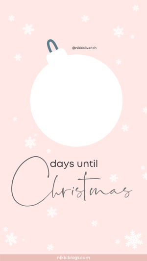 christmas countdown template rose gold