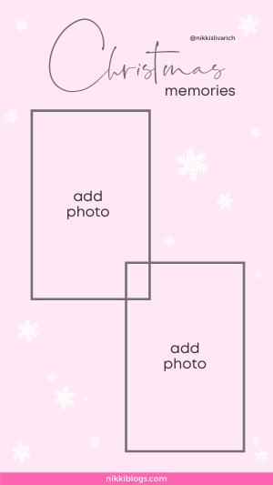 christmas memories template pink