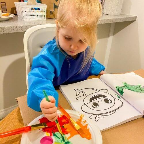 indoor activities toddlers - painting
