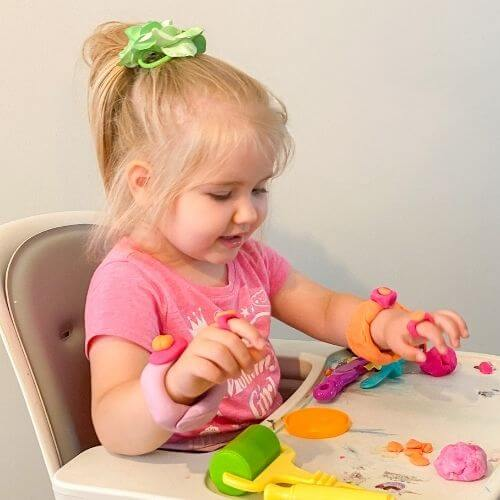 work at home activities for kids - play doh