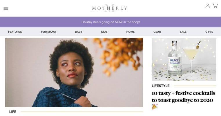 motherly parenting blog makes money