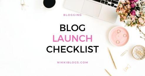 blog launch checklist