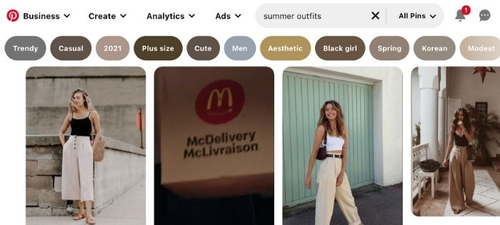 summer outfits pinterest board names