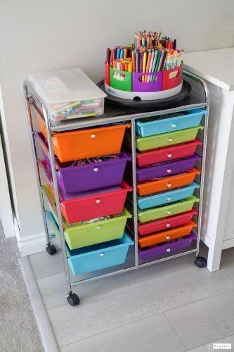 arts crafts storage kids