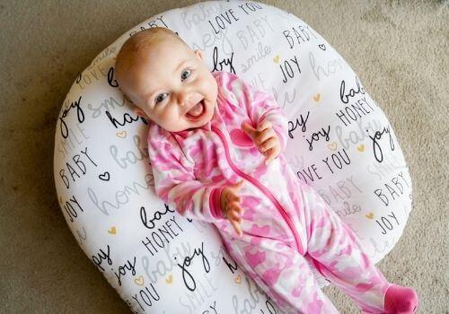3.5 month old in boppy newborn lounger