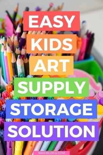 easy kids art supply storage solution