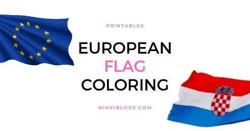 european flag coloring