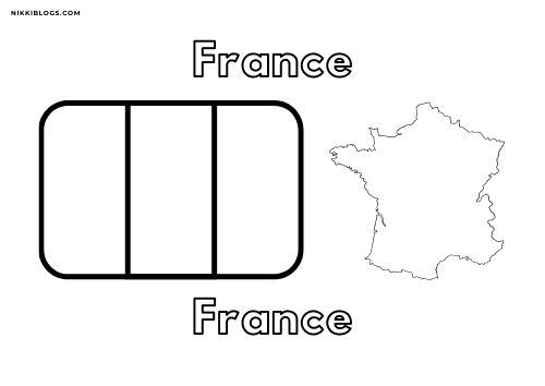 european flags coloring pages - france