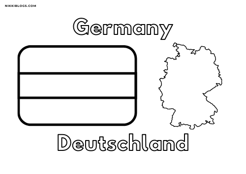 european flags coloring pages - germany