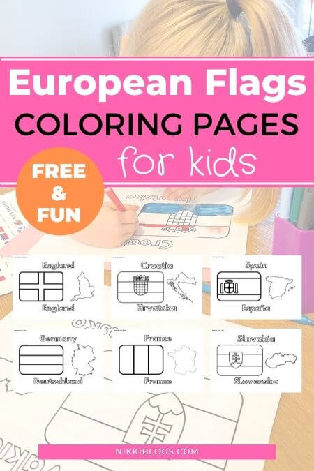 european flags coloring pages - kids