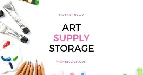 kids art supply storage
