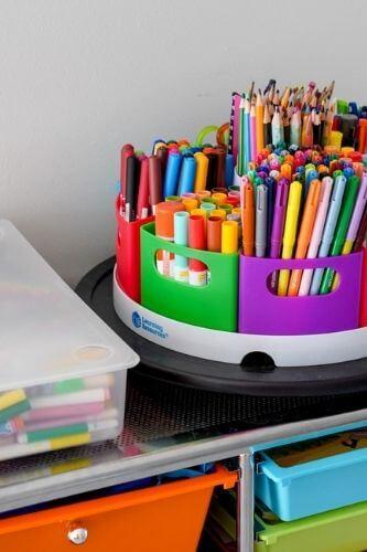 playroom art supply storage
