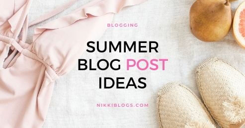 summer blog post ideas