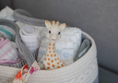 things to go in diaper caddy like a teether