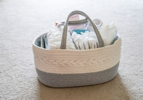 things to go in diaper caddy