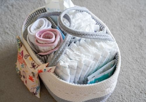 what to put in nappy caddy