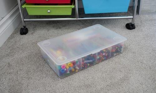clear plastic ikea glis box