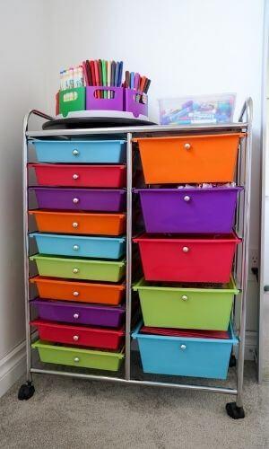 how to organize kids art supplies