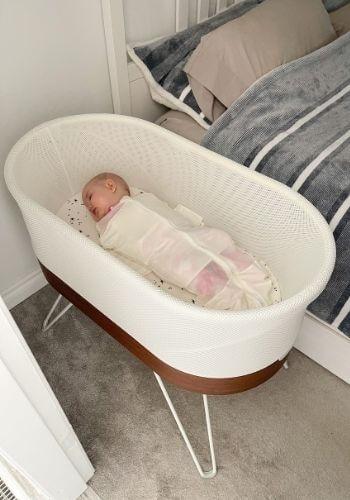 baby sleeping in snoo - worth it!