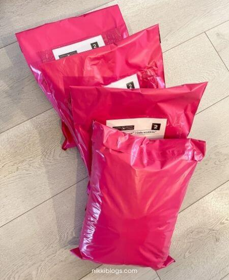 how does shipping work on poshmark - example of packages ready to go