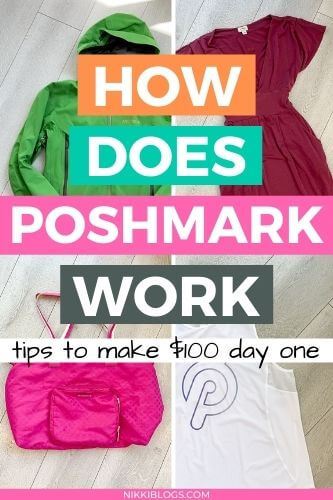 how does poshmark work selling clothing online - tips to make $100 a day