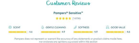 pampers sensitive reviews