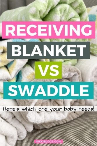 receiving blanket vs swaddle - here's which one your baby needs