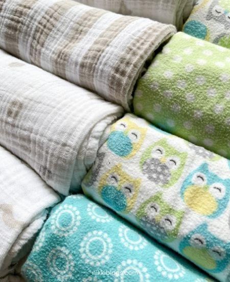 side by side swaddle blankets