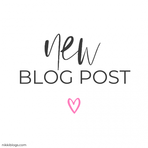 text reads new blog post and is part of nikki blogs instaquotes download pack